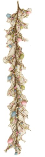 Your Heart's Delight Spring Eggs and Berries Garland, 66-Inch, Pink/Blue/Light Green