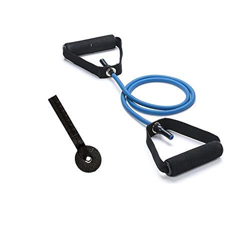 SSX Elastic Yoga Pull Rope Tubes Fitness Workout Brusttraining Training Gummi Zugzug Expander Türhalter, Blau