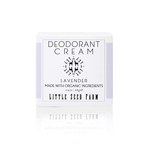 Little Seed Farm All Natural Deodorant Cream, Aluminum Free Deodorant for Women or Men, 2.4 Ounce - Lavender