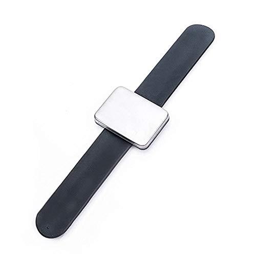 Pin titular pulsera suave flexible magnética correa de muñeca de silicona Hairpin pulsera para salón peluquería suministros