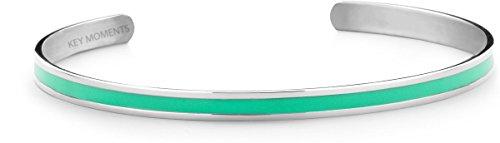 KEY MOMENTS Armreif - Lack Mint - Edelstahl silberfarbig - One Size