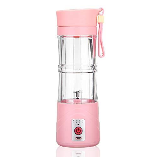 TuToy 380Ml Mini Usb Recargable Jugo De Fruta Eléctrica Batido Mezclador Maker Licuadora Exprimidor Botella Shaker - Rosa