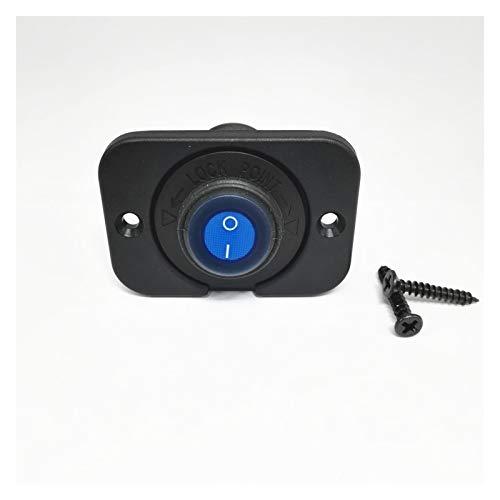 Kfdzsw Interruptor basculante Interruptor de Palanca de rockero Resistente al Agua SPST ON/Off Control 20A DC12V LED Iluminado 3pins con el Panel para el camión de Coche Barco Marino (Color : Blue)