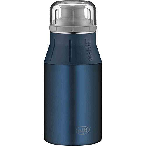 alfi Edelstahlflasche elementBottle Pure blau, Trinkflasche Edelstahl 400ml, auslaufsicher, spülmaschinenfest, 5357.205.040 BPA Frei, Flasche für Wasser, Saft, Tee, Softdrinks, toGo oder im Büro