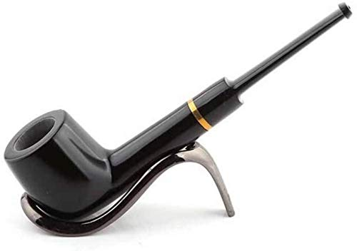 ZT Ébano clásico Creativo, más Piedra tubería Anillo Nanmu Tallado en Madera de Caoba tubería de ébano Smoking de Alambre sólido Moda (Size : 2)