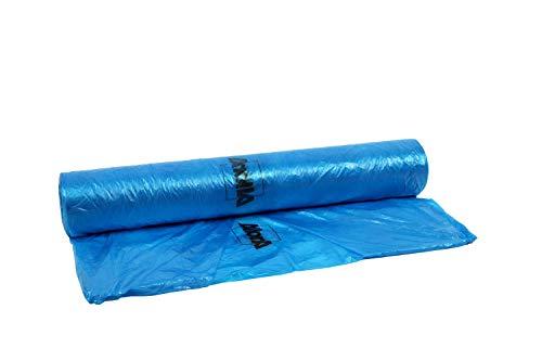 AllorA Abdeckfolie HDPE blau/transparent farbhaftend 4 m x 300 m, 8 My