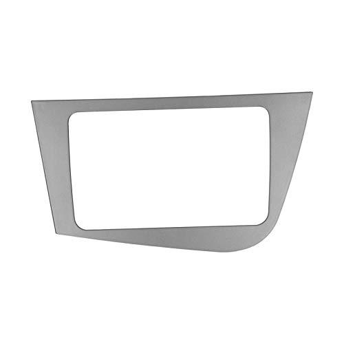 Marco de consola para radio, reproductor de DVD 2-DIN Ajuste del panel del GPS Ajuste de la fascia de la radio estéreo Durable para la reparación del automóvil para Seat Leon 2005-2011 LHD