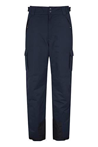 Mountain Warehouse Luna Snowboarder II Ski-Herrenhosen - wasserfeste Skibekleidung, luftdurchlässig, isolierter Wintermantel, versiegelte Nähte - ideal für Snowboarding Marineblau XS