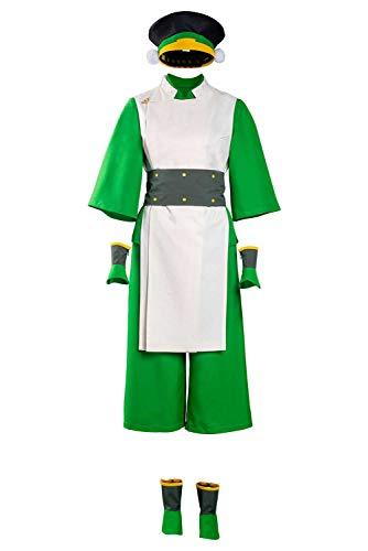 Manfis Avatar The Last Airbender Toph Aang - Disfraz de uniforme de cosplay para Halloween