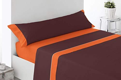 DESING.Textiles-Home: Rico Chocolate 12,99€ Juego sabanas Microfibra, suave3 Piezas. (MARRÓN/Choco, 105X190-200CM)