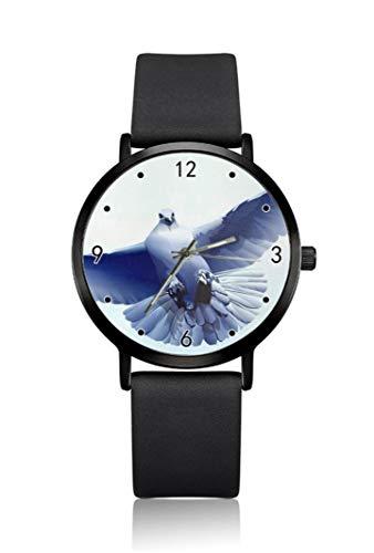 Relojes de Pulsera para Hombre, diseño de pájaro Volador, Ultra Delgados, Esfera...
