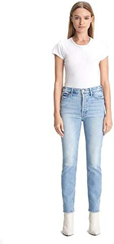 MOTHER The Button Fly Dazzler Ankle Women s Designer Denim Jeans I Confess wash Made in The product image