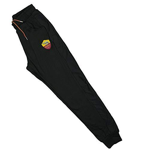 AS Roma Pantalone Felpato Blu O Nero R13724 (L, Nero)