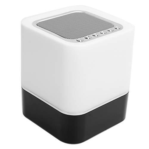 Altavoz Bluetooth inalámbrico LED Reloj portátil con luz colorida, con tarjeta de memoria AUX USB, para teléfonos inteligentes, computadoras y otros dispositivos Bluetooth para el hogar, al aire libre