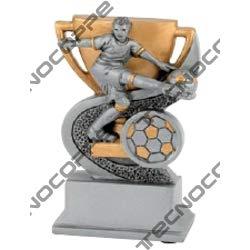 Technocoppe Trofeo Calcio h 12,50 cm – Ausdrücke Capocannoniere – personalisiertes Schild