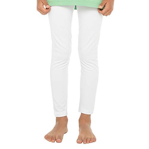 Leggings de Cotone Pantaloni da Bambini Bianco 134/140