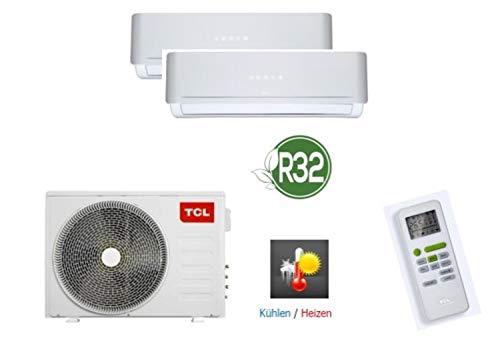 TCL 4 in 1 Duo Split-Klimaanlage Kühlen, Heizen, Ventilieren und Entfeuchten, 18.000 BTU/5,2KW, mit Kältemittel R32, ohne Quick Connector, geeignet für Serverräume