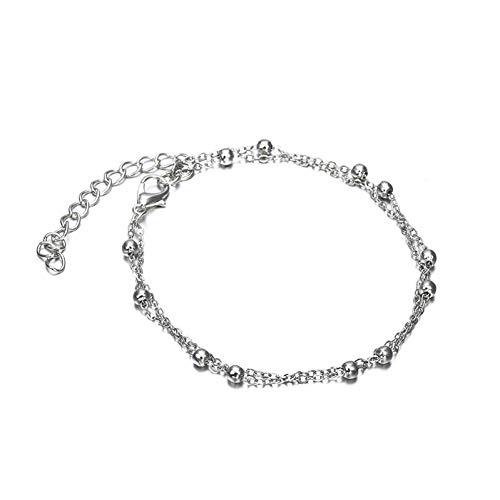 DMUEZW handel sieraden ketting kralen enkelbanden dubbele gouden explosie modellen Lady Enkel Armbanden
