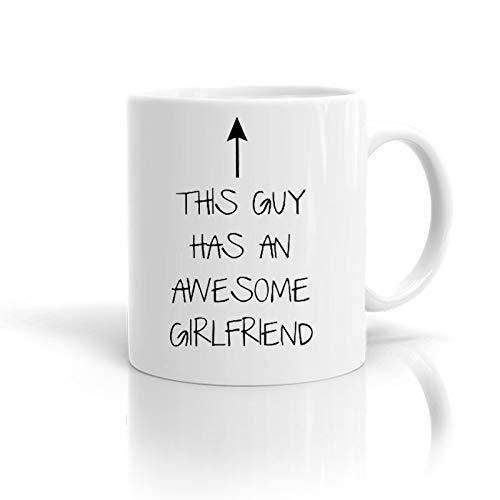 """Kaffeetasse, 325 ml, mit englischer Aufschrift """"This Guy Has an Awesome Girlfriend"""""""