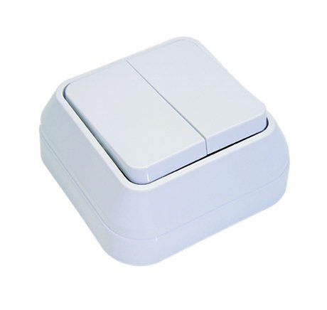 Doble Interruptor de Superficie Makel IP20 45103