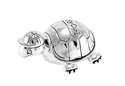 Brillibrum Design kruldoos schildpad verzilverd naamgravure haardoos doopgeschenk My Curl baby box voor haarstrengen Dose ohne Gravur zilver