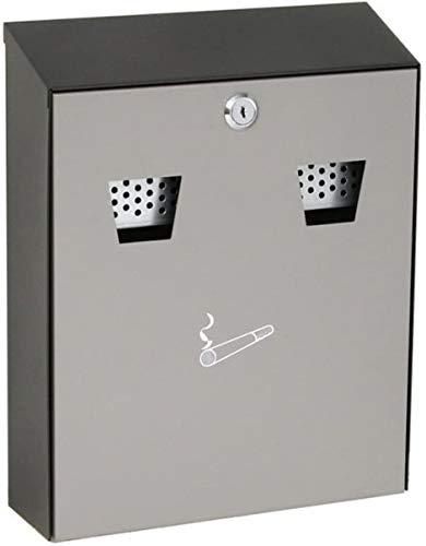 Wand-Aschenbecher RA 5001 - u.a. für die Wandmontage geeignet - schwarz/grau - inkl. 2 Schlüssel