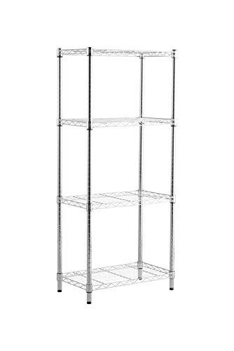Racking Solutions Basics - Chrome 4 Shelf-Regal Riesige 400-kg-Speicherkapazität 1360 mm H x 590 mm B x 340 mm D