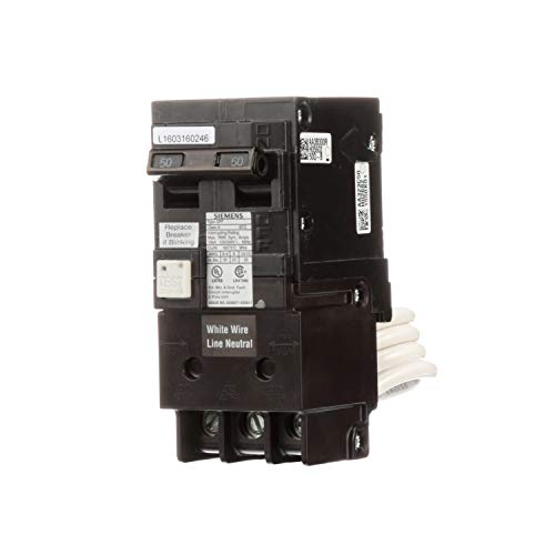 Siemens QF250A Breaker Ground Fault Circuit Interrupter, 50 Amp, 2 Pole, 240 Volt, 10,000 AIC