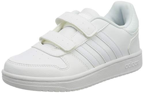 adidas Hoops 2.0 CMF C, Zapatillas de básquetbol Unisex Niños, FTWR White/FTWR White/FTWR White, 32 EU