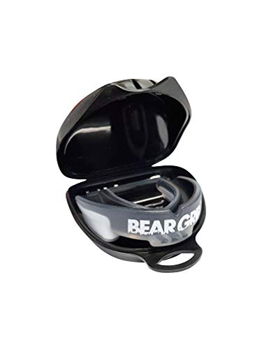BEAR GRIP Mouth Guard Gum Shield for Boxing, Rugby, MMA, Hockey, karate and all contact sports (Black, Adult (11+))