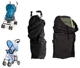 liltourist Kinderwagen Transporttasche, Reisetasche mit Trageriemen, Schutztasche schwarz