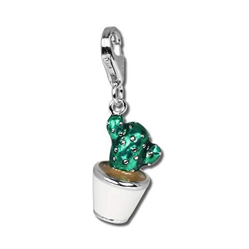 SilberDream Armband Anhänger Charm Kaktus grün 925er Silber Emaille D2FC611 EIN schönes Geschenk zu Weihnachten, Geburtstag, Valentinstag für die Frau