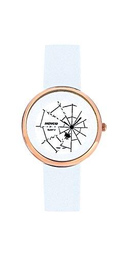 SHEPHERD 15210 Spinnenuhr rosegoldfarben Damen Armbanduhr (kleine Version) 34 mm Durchmesser Quarz