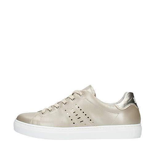 NeroGiardini - Sneaker in Pelle Laminata Platino