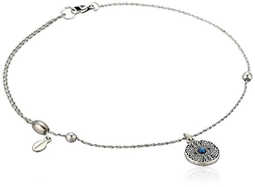 Alex and Ani Womens Evil Eye Anklet, Rafaelian Silver, Expandable