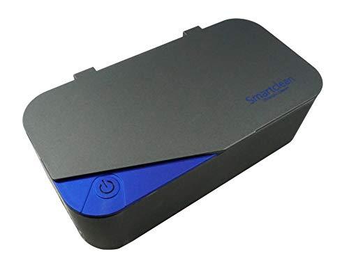 Smartclean 超音波洗浄機 家庭用 幅広メガネに対応 角型タイプ スマートなコンパクト設計 (グレー ブルー)