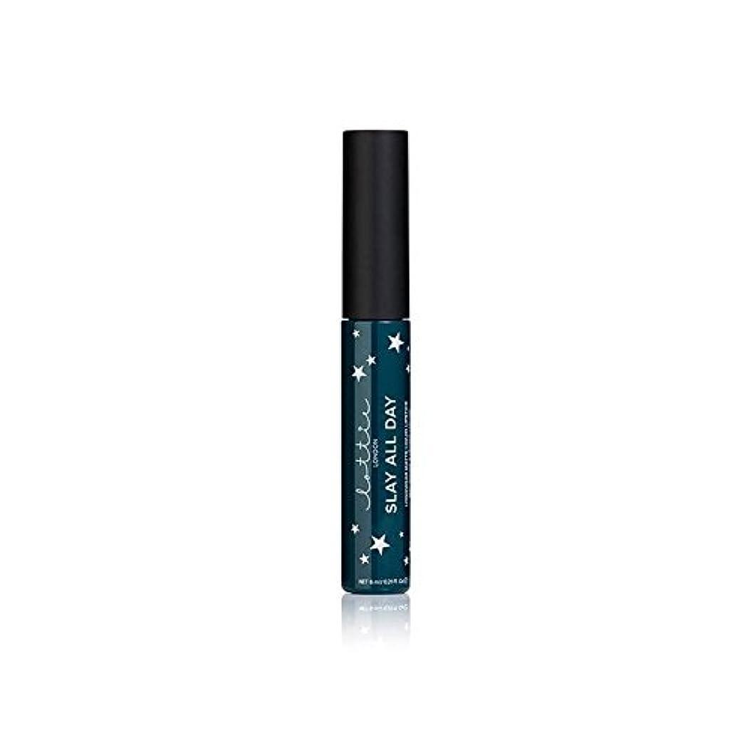 滑りやすい申し立てるレインコートLottie London Matte Liquid Lipstick - Queen - ロンドンマット液状口紅を - 女王 [並行輸入品]
