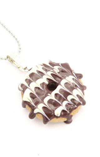 Donut Kette Mode-Schmuck 60cm Schokolade Chocolate Zuckerguss Gebäck Keks