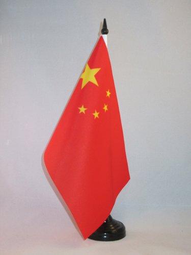 AZ FLAG Drapeau de Table Chine 21x14cm - Petit Drapeaux DE Bureau Chinois 14 x 21 cm