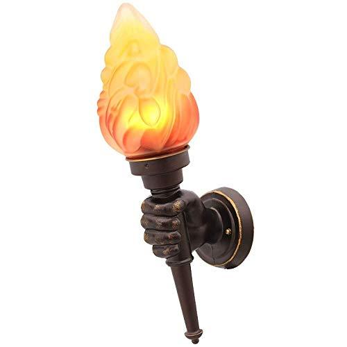 MJZHJD Creativa antorcha lámpara de Pared clásico flammig Industrielook Metal de la lámpara de Pared de luz, Negro, A Luz de Pared