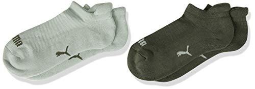PUMA Frauen Sneaker Trainer Socken, Aqua Green, 39/42 (2er Pack)