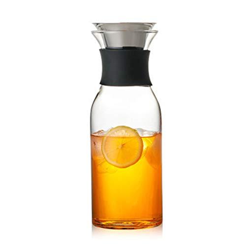 Water kruik, glas Pitcher waterkruik huishouden grote capaciteit water Pitcher glas karaf creatief glas kruik met deksel, voor melk, thee, sap stijlnaam 1.4L Kleur
