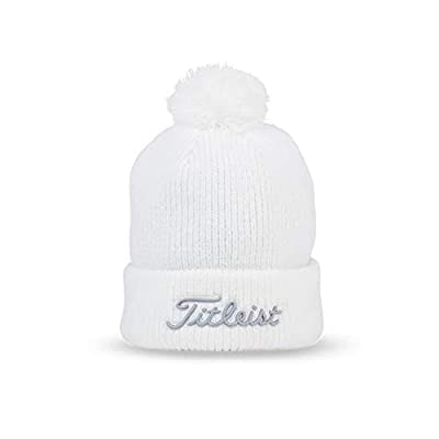 Titleist Winter Golf Hats and Beanies (Pompom Winter Hat, Beanie) (Pompom Winter Hat, White/Grey)