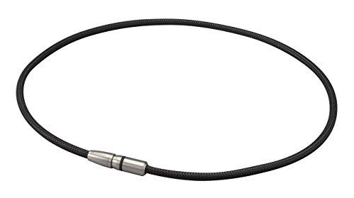 ファイテン(phiten) ネックレス RAKUWA磁気チタンネックレス BULLET ブラック/ブラック 50cm