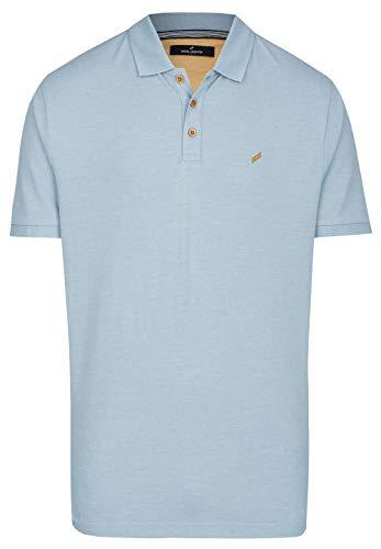 Daniel Hechter Herren Polo-Shirt Baumwoll-Piqué T-Shirt Blau XL