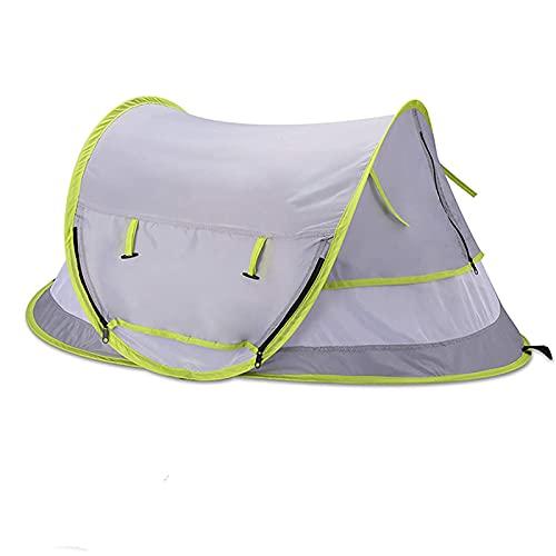 LEFUYAN Barraca de bebê pop-up para ambientes externos, leve, portátil, anti-pragas, malha mosquito, abrigo de sol, fecho de zíper, protetor solar para bebês