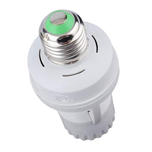 Baoblaze Sensor de Infrarrojos Interruptor LED E27 Ajustable 8M (máx.) 110-240V / CA 360 °