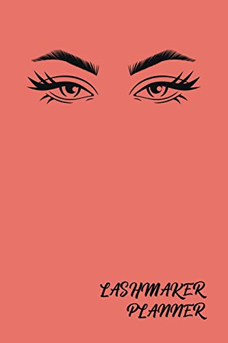 LashMaker Planner: Keep your Beauty Appointments in One Salmon Tracking Organizer Notebook | Great for Individual LashMakers | Customer Client Order ... Small Business Log | Eyelashes Extension