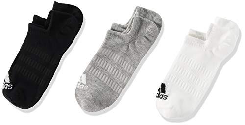 adidas DZ9414 LIGHT NOSH 3PP Socks unisex-adult medium grey heather/white/black XS