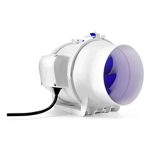 Lcxligang Ventilador de admisión en línea Extractor Extractor en línea ventilador de conducto - Metal axial Ventilación Extractor de aire de volumen 550/440/340 m³ / h niveles bajos de ruido for tiend